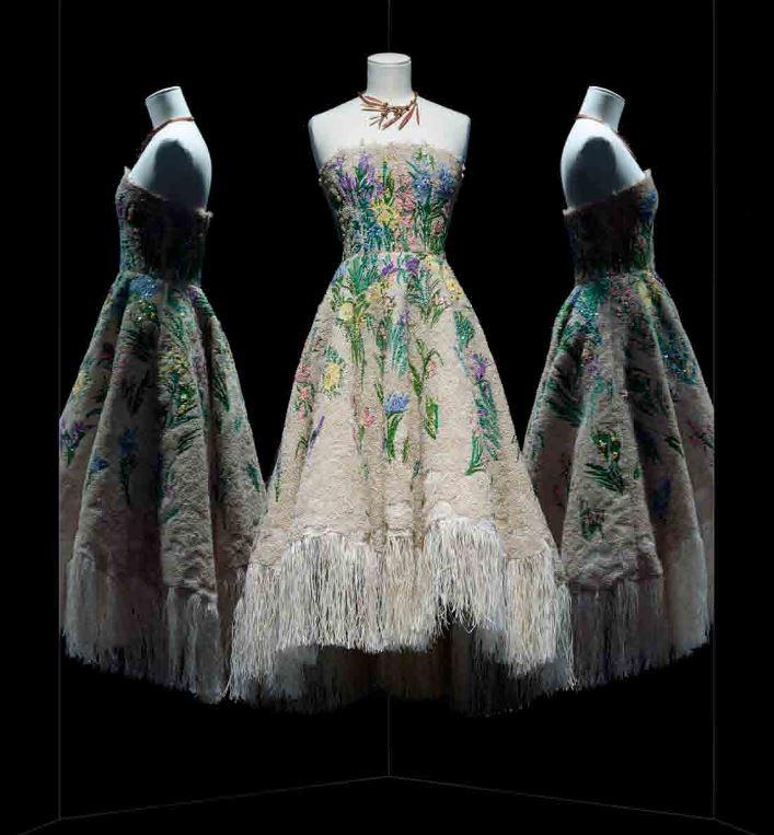 Maria Grazia Chiuri pour Christian Dior. Robe Essence d'herbier, Musée des arts Décoratifs