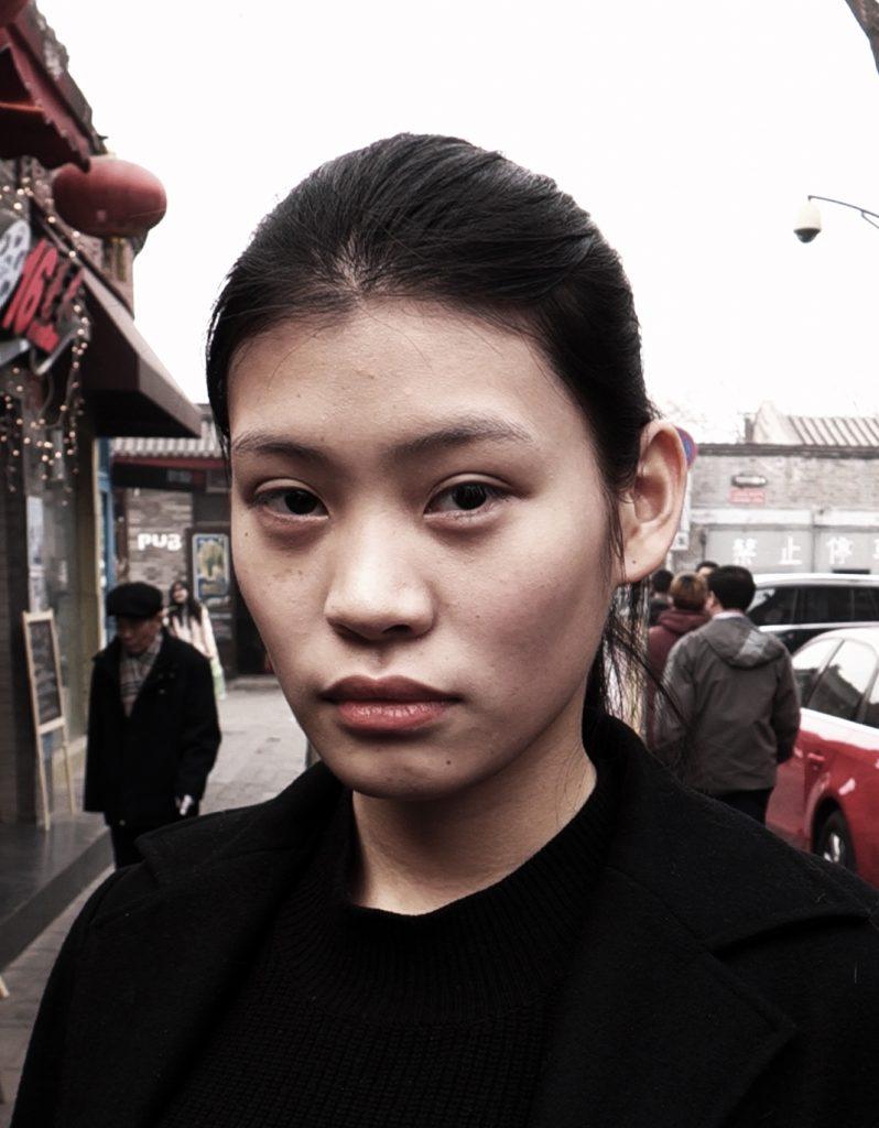 Model, Beijing, 2015, Nicolas Clauss - Endless Portraits au Centquatre Paris