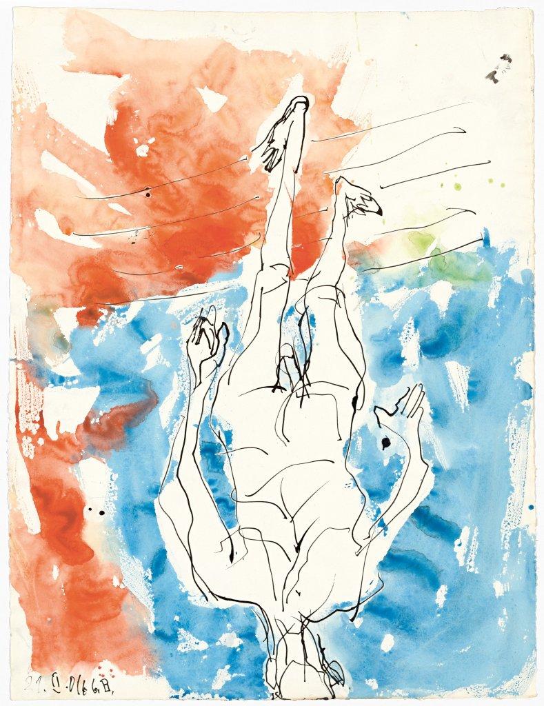 Ohne Titel, (Sans titre) Georg Baselitz, 2016 - Descente a la Galerie Thaddaeus Ropac de Pantin