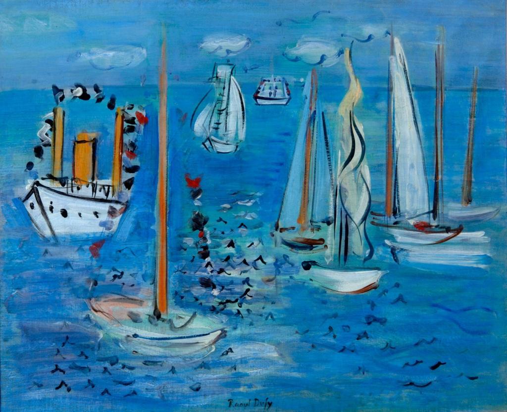 Raoul Dufy, Bateaux pavoises, 1946 - Exposition Les couleurs du Bonheur au Musee Jean Cocteau, Menton