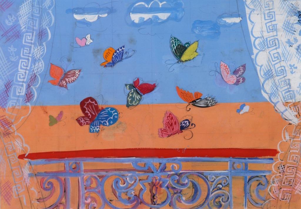Raoul Dufy, La Balustrade aux papillons, 1930 - Exposition Les couleurs du Bonheur au Musee Jean Cocteau, Menton