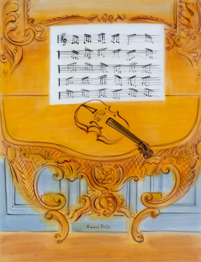 Raoul Dufy, La console jaune, vers 1949 - Exposition Les couleurs du Bonheur au Musee Jean Cocteau, Menton
