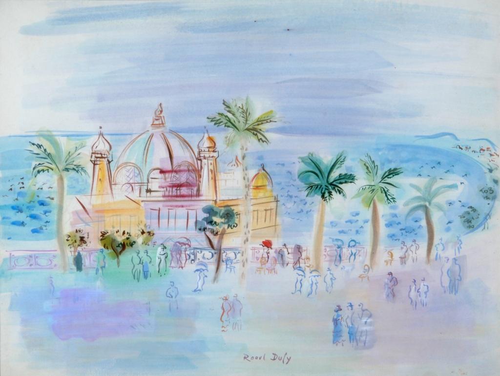 Raoul Dufy, Le Casino de la jetee, promenade a Nice,1946 - Exposition Les couleurs du Bonheur au Musee Jean Cocteau, Menton