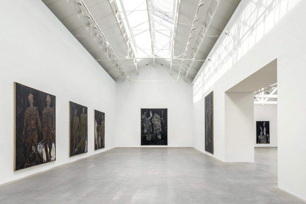 Vue de l'exposition Descente 2, Georg Baselitz - Descente a la Galerie Thaddaeus Ropac de Pantin