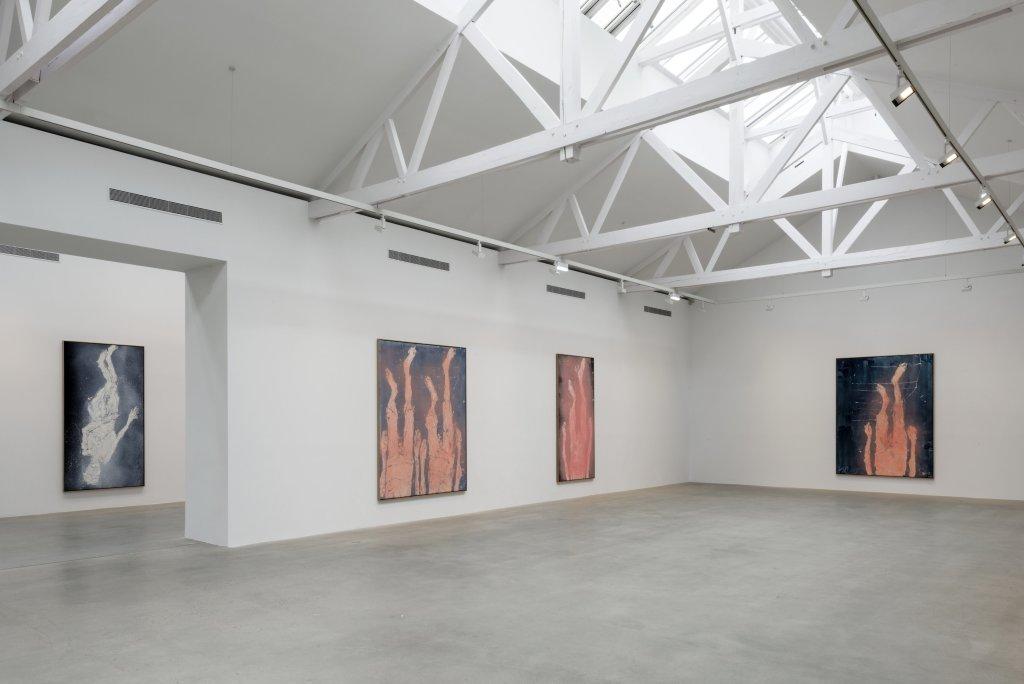 Vue de l'exposition Descente 3, Georg Baselitz - Descente a la Galerie Thaddaeus Ropac de Pantin