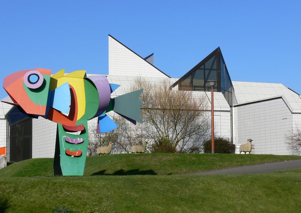 Vue du Lieu d'Art et d'Action Contemporaine - Exposition Musique a voir au LAAC Dunkerque