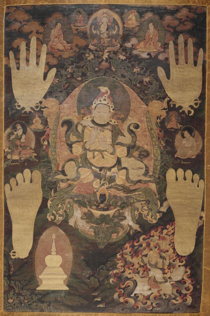 Le roi gNya'-khri btsan-po, série des incarnations d'Avalokiteçvara