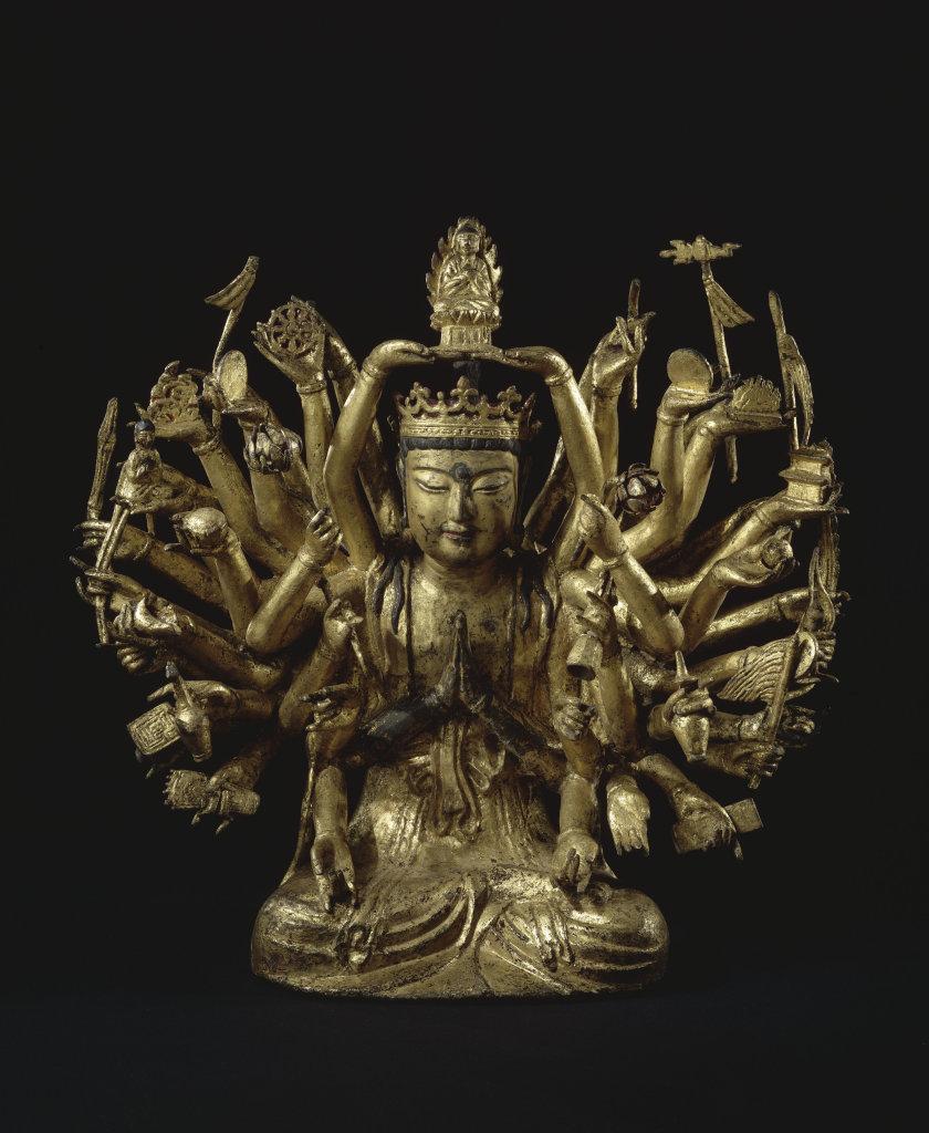 "Avalokitesvara a mille bras et aux mille ""chonsu kwanum posal"" - 113 ors d'Asie au Musee Guimet"