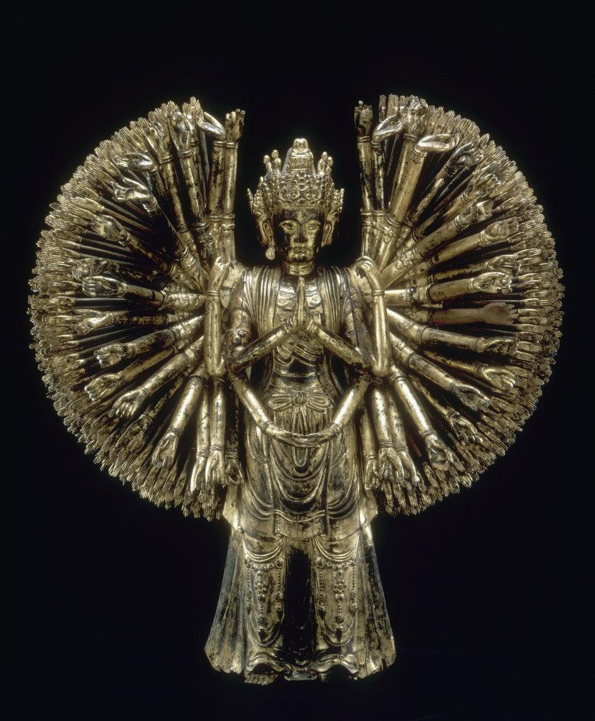 Le bodhisattva Avalokitesvara aux mille bras - 113 ors d'Asie au Musee Guimet