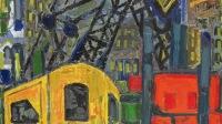 9- le chantier du métro, huile sur toile, 146 x 114 cm, 1972, Grand Prix des Peintres témoins de leur temps en 1975