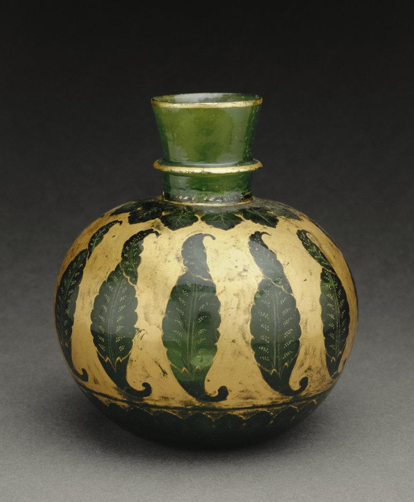 """Base de """"huqqa"""" (pipe a eau) - 113 ors d'Asie au Musee GUimet"""