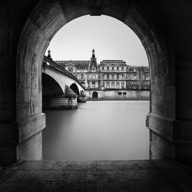 Expo Jolie Capitale - Galerie Hegoa - Roland Thibault - Royal Bridge and Louvre - 2015 (2)