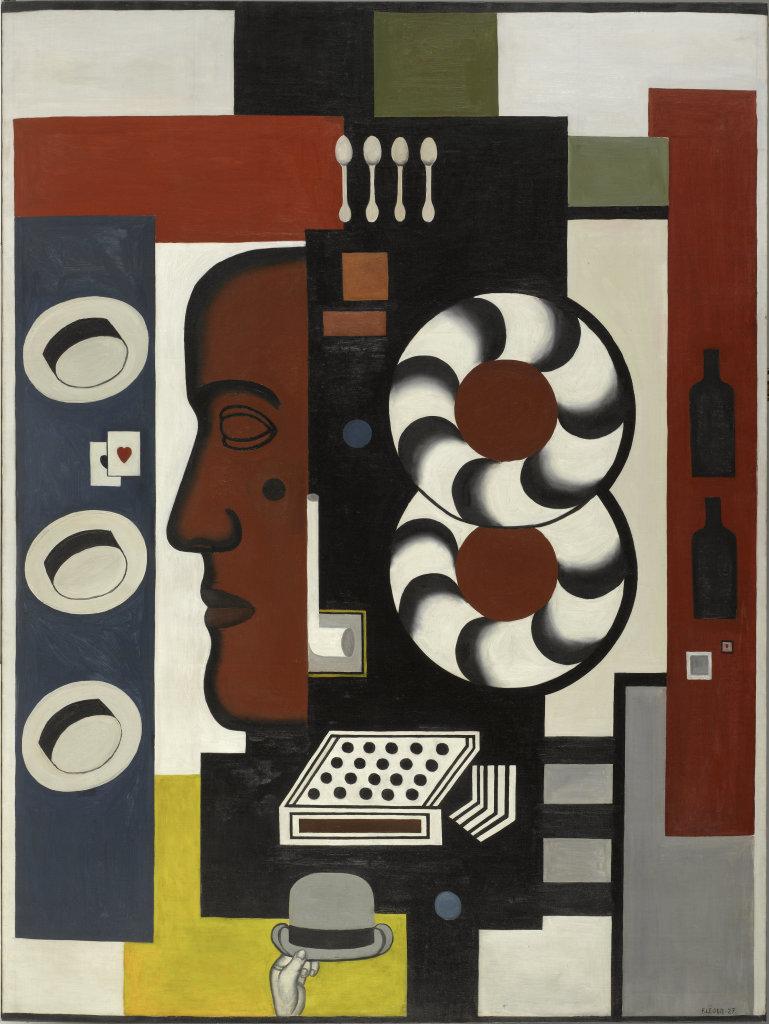 Fernand Leger, Composition a la main et aux chapeaux, 1927 - Le Beau est partout, Fernand Leger au Centre Pompidou Metz