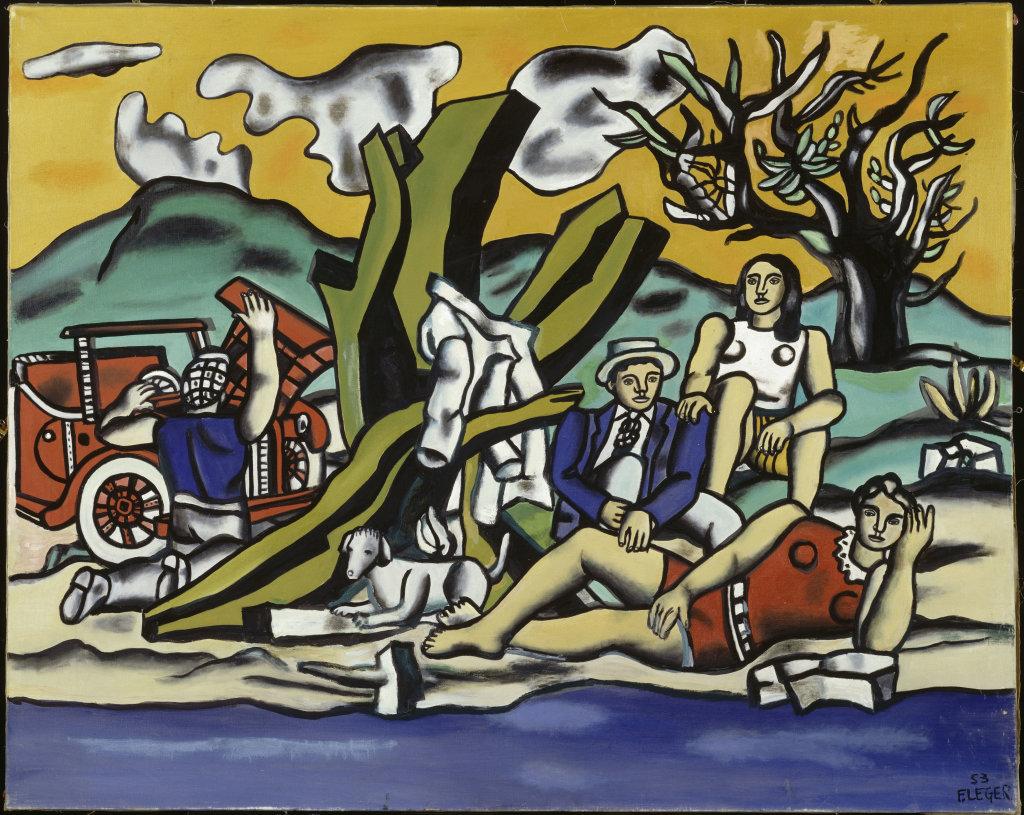 Fernand Leger, La Partie de campagne Deuxième etat, 1953 - Le Beau est partout, Fernand Leger au Centre Pompidou Metz
