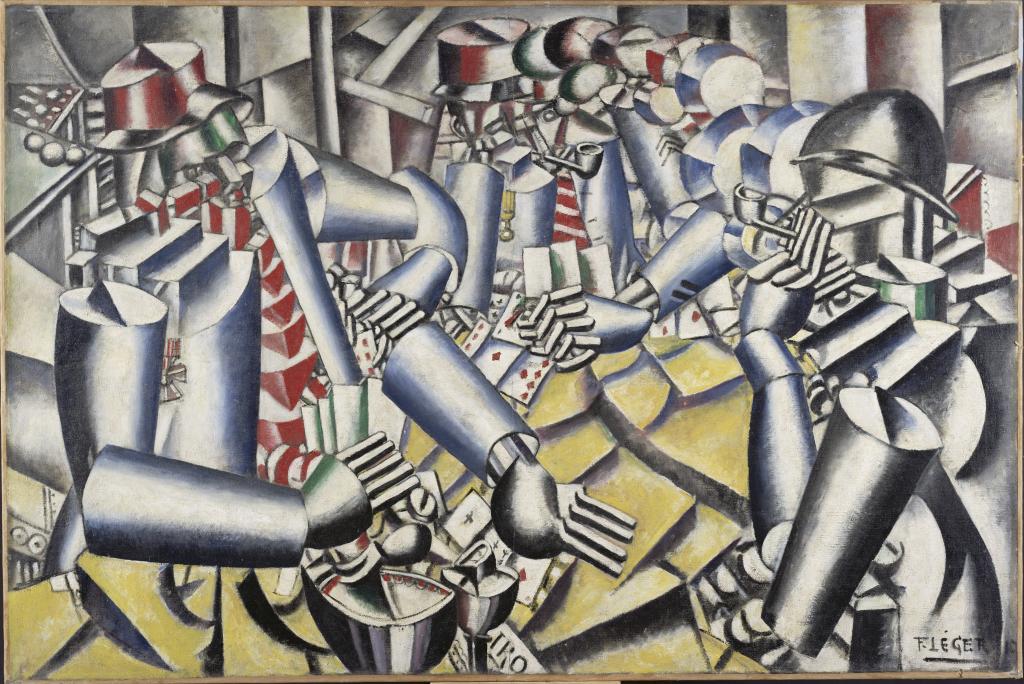 Fernand Leger, La partie de cartes, 1917 - Le Beau est partout, Fernand Leger au Centre Pompidou Metz