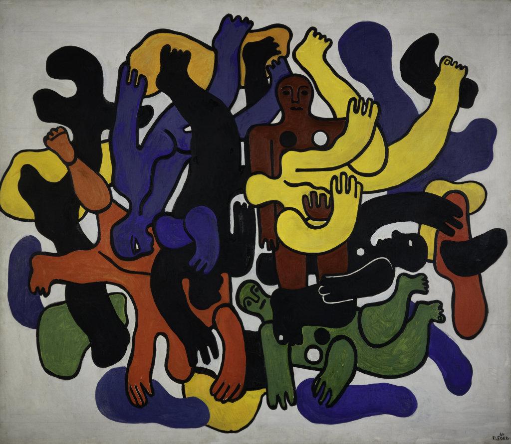Fernand Leger, Les grands plongeurs noirs, 1944 - Le Beau est partout, Fernand Leger au Centre Pompidou Metz