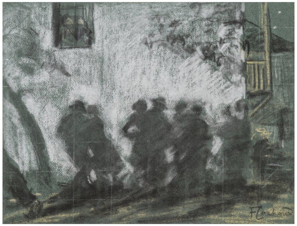 Francois Cachoud, Etude preparatoire pour La Fresque lunaire, 1929 - Les Nuits Transfigurees au Musee des Beaux-Arts de Chambery jusqu'au 17 septembre 2017