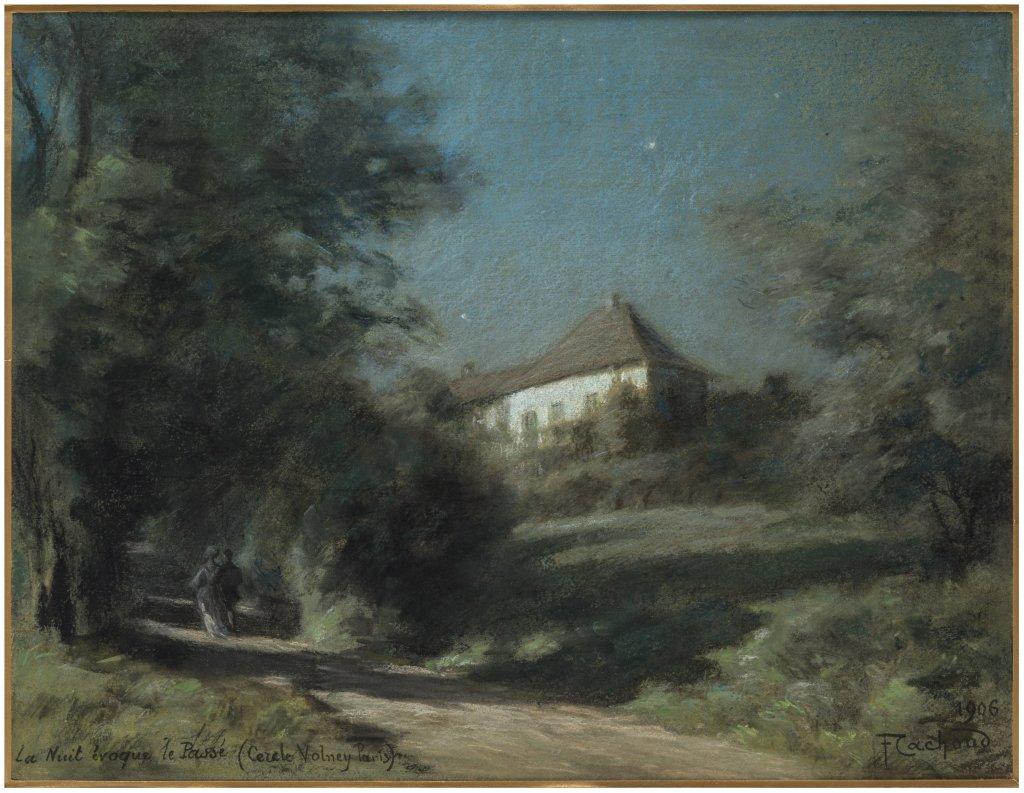 Francois Cachoud, Les Charmettes au clair de lune, 1906 - Les Nuits Transfigurees au Musee des Beaux-Arts de Chambery jusqu'au 17 septembre 2017
