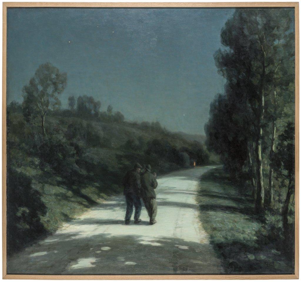 Francois Cachoud, Les Deux amis, nuit d'ete, 1928 - Les Nuits Transfigurees au Musee des Beaux Arts de Chambery jusqu'au 17 septembre 2017