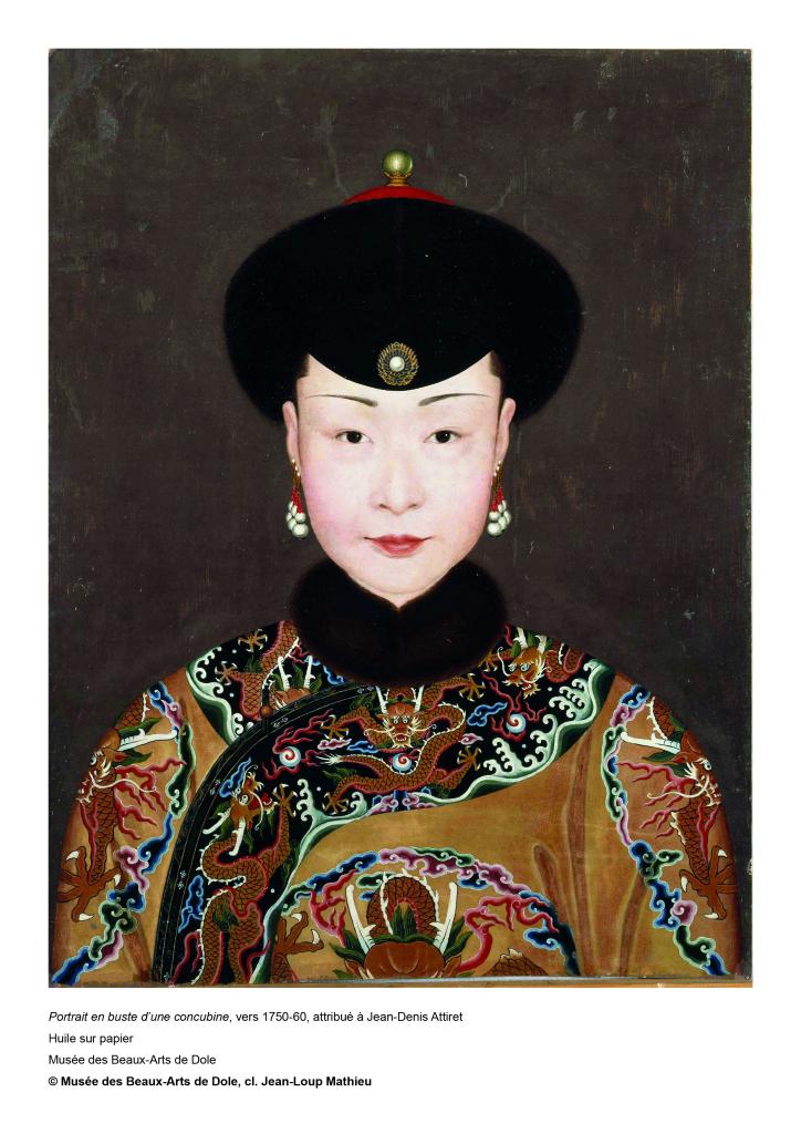 Attribué à Jean-‐Denis Attiret Portrait en buste d'une concubine