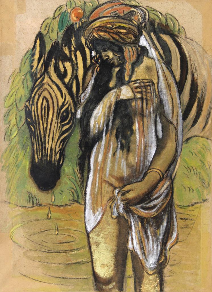 Manzana, Oriantale au zebre - Manzana et Roboan, un couple d'artiste a la Maison Ravier de Morestel