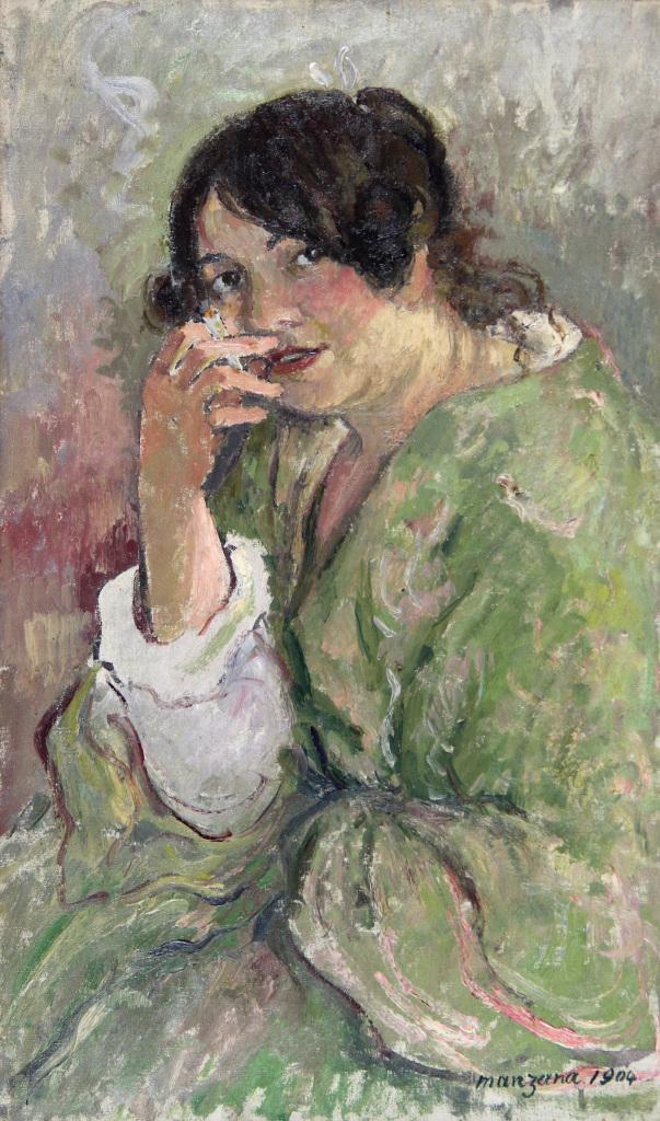 Manzana, Portrait de Roboa 1904 - Manzana et Roboan, un couple d'artiste a la Maison Ravier de Morestel