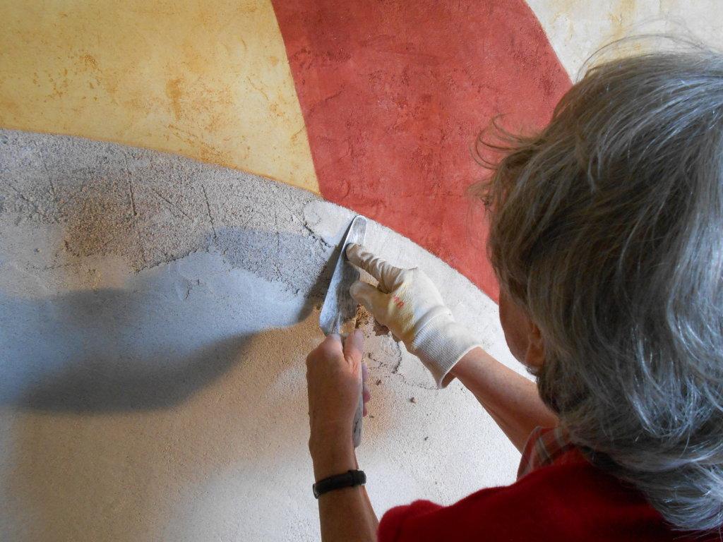 Soigner le raccord - Entre les murs de Fresques au Mopo de Troyes