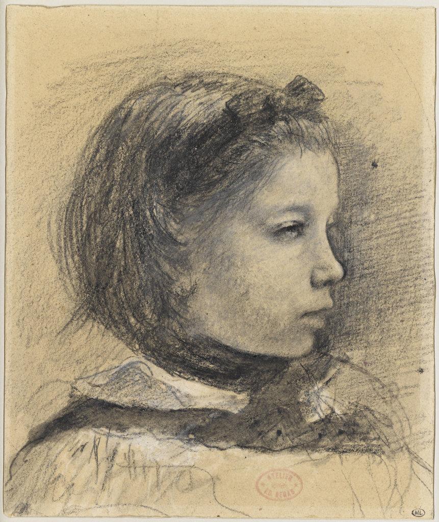 Degas, Portrait de Giulia Bellelli, entre 1858 et 1869, Degas Danse Dessin, Musée d'Orsay