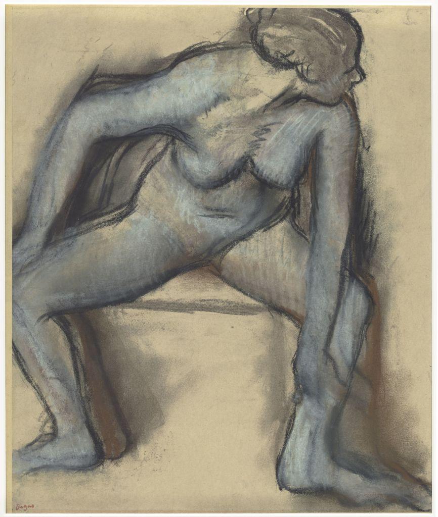 Degas, Danseuse nue, vers 1896, Danse Dessin, Musée d'Orsay
