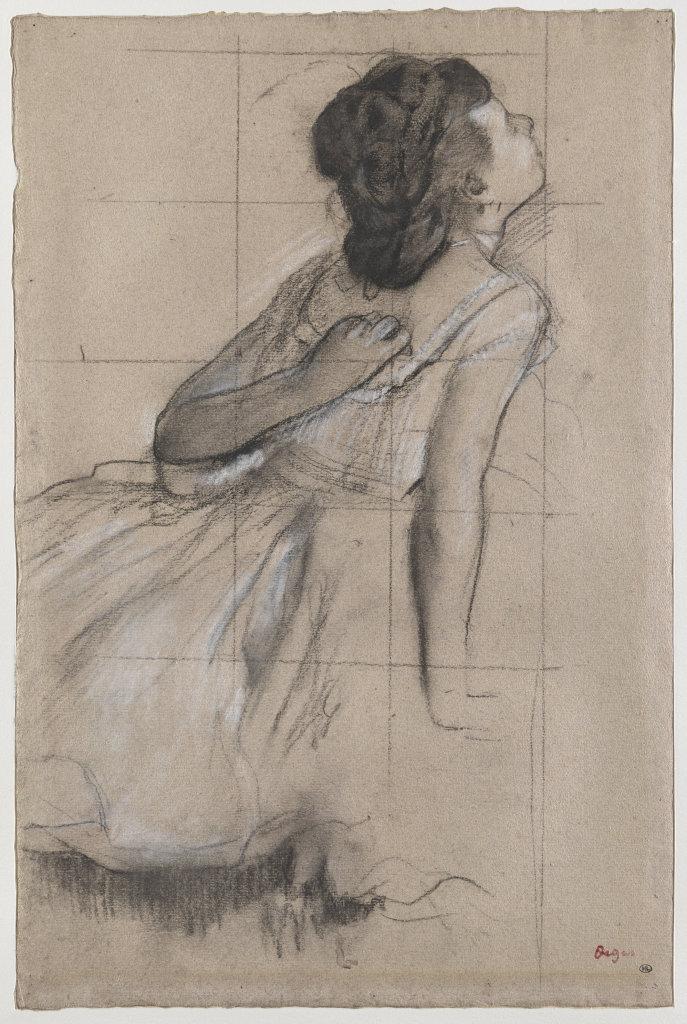 Degas, Danseuse se grattant le dos, entre 1873 et 1876, Degas Danse Dessin