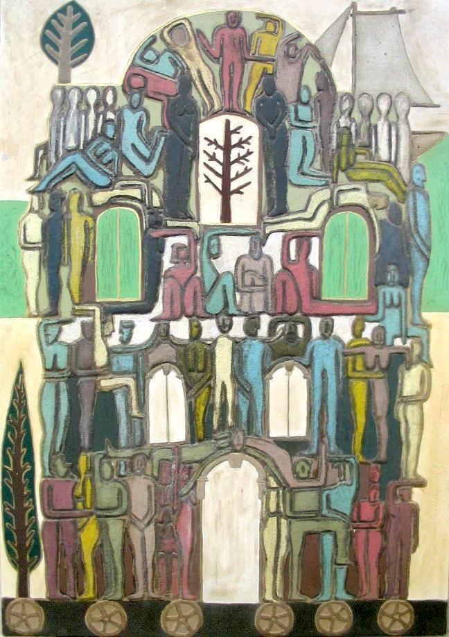 STANISAVLJEVIC Ivana, Château sur roues, 2003, Turbulences dans les Balkans, Halle Saint Pierre