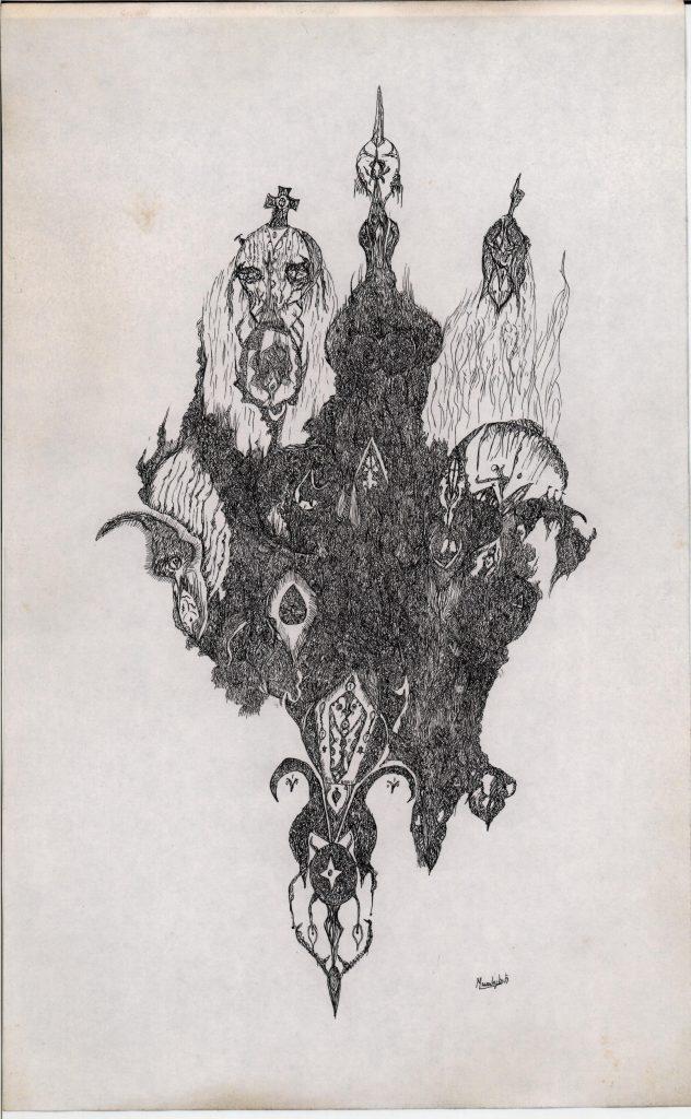 MILIVOJEVIC Dragan, Sans-titre, 29.5x18.5cm, encre indienne sur papier, coll. privée, Turbulences dans les Balkans, Halle Saint Pierre