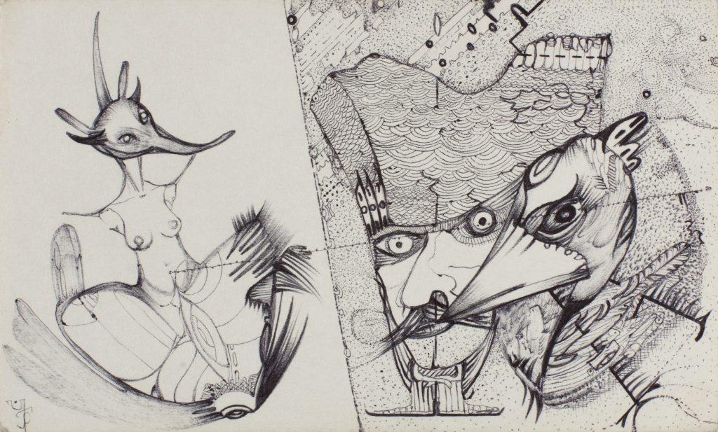 ARCHIVIST, Conscience, 2010, 9x15cm, stylo sur carton, coll. privée, Turbulences dans les Balkans, Halle Saint Pierre
