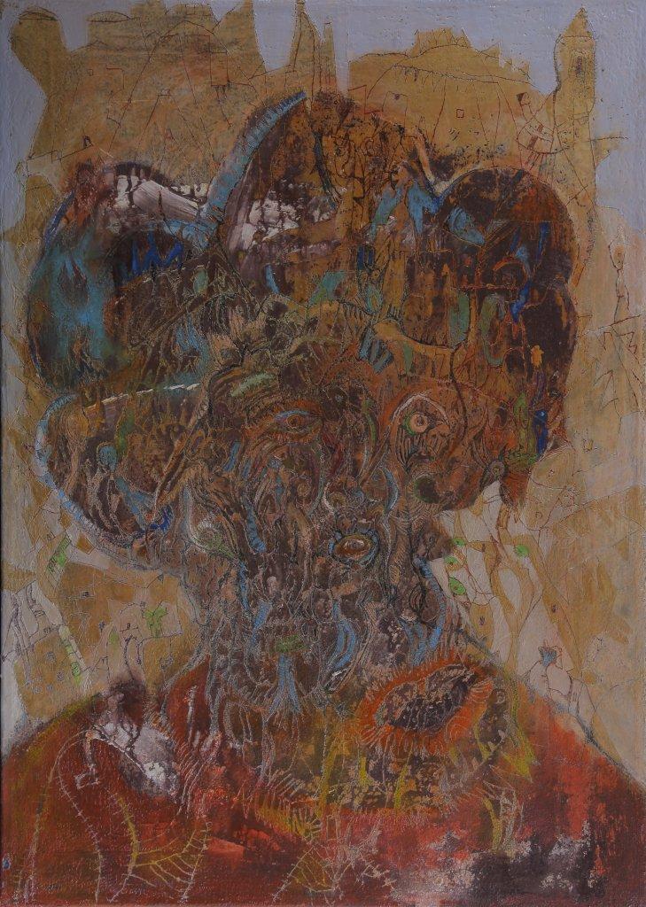 SIMONOVIC Igor, Autoportrait, 2013, MNMA, Turbulences dans les Balkans, Halle Saint Pierre