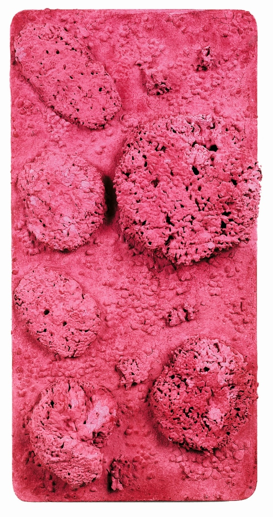 Yves Klein, 1928-1962Untitled Pink Sponge-relief, (RE 44) c.1960