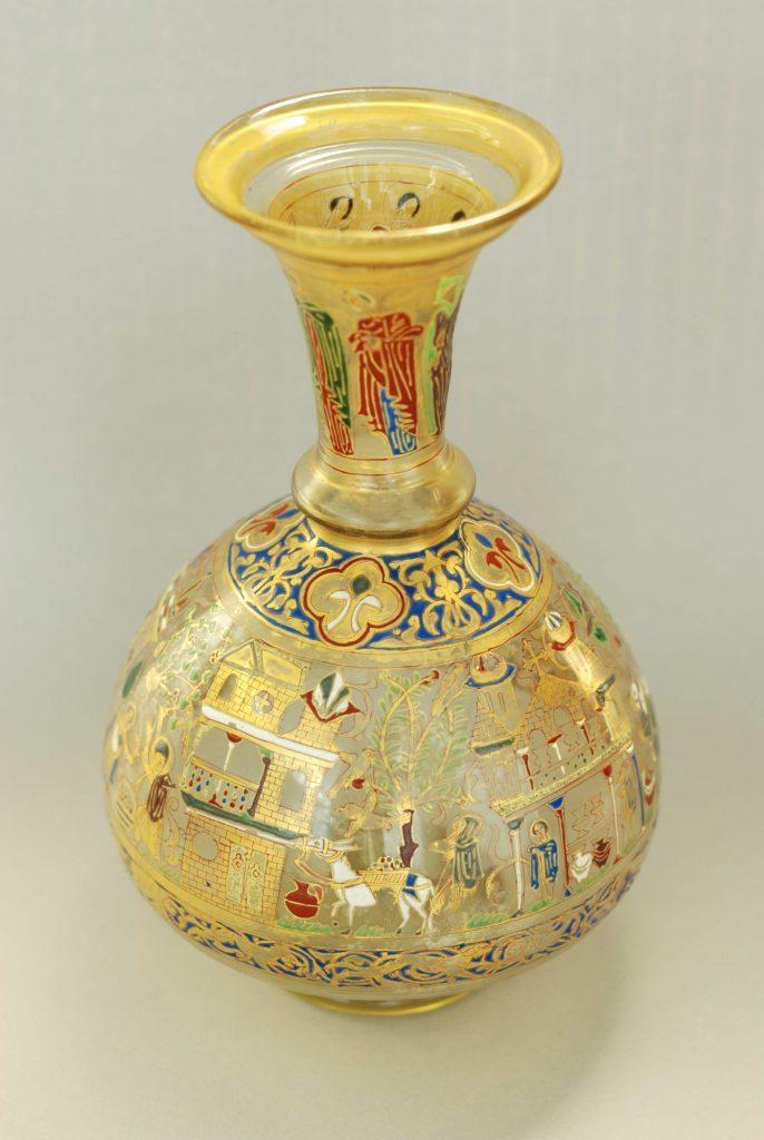Bouteille à décor chrétien, Syrie, Milieu du XIIIe siècle, Chrétiens d'Orient, IMA