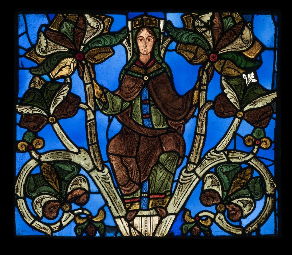 Arbre de Jessé, Abbatiale de Saint-Denis, 1140-1144 - Exposition Le verre, un Moyen Âge Inventif au Musée de Cluny