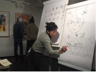 Atelier manga, musée Orangerie, Michel Charbonnier