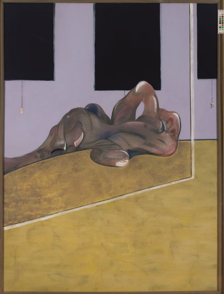 Bacon, Lying Figure in a Mirror, Face à face, musée Fabre
