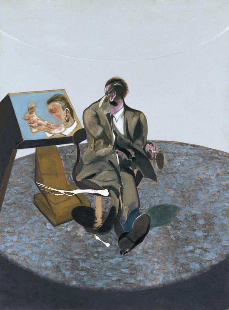 Bacon, Portrait of George Dyer in a mirror, Face à face, musée Fabre