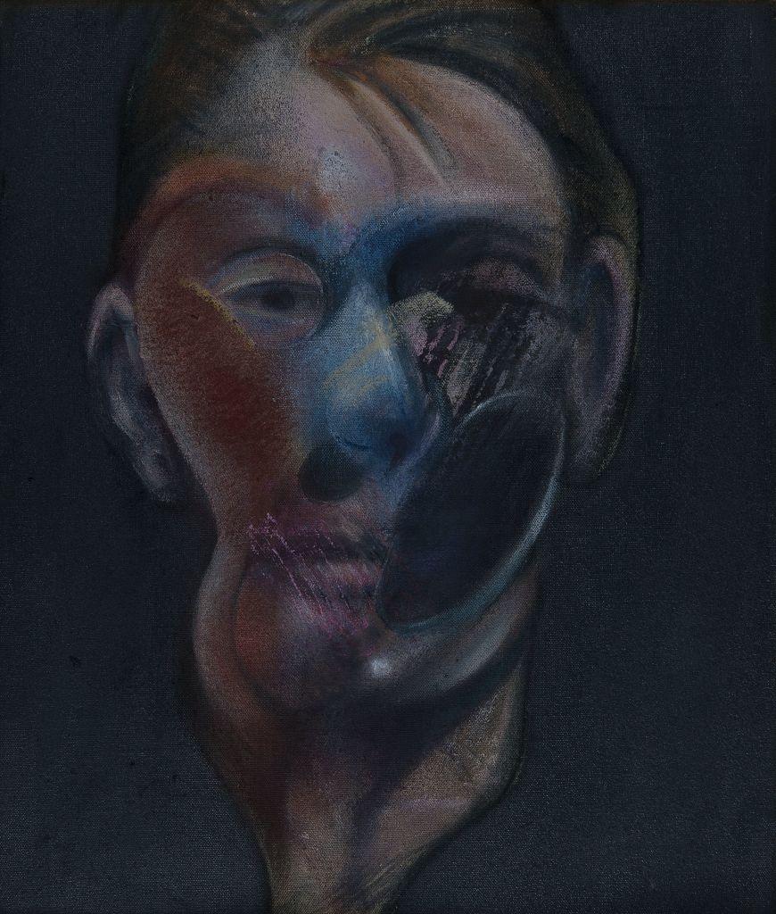 Bacon, Autoportrait, Face à face, musée Fabre