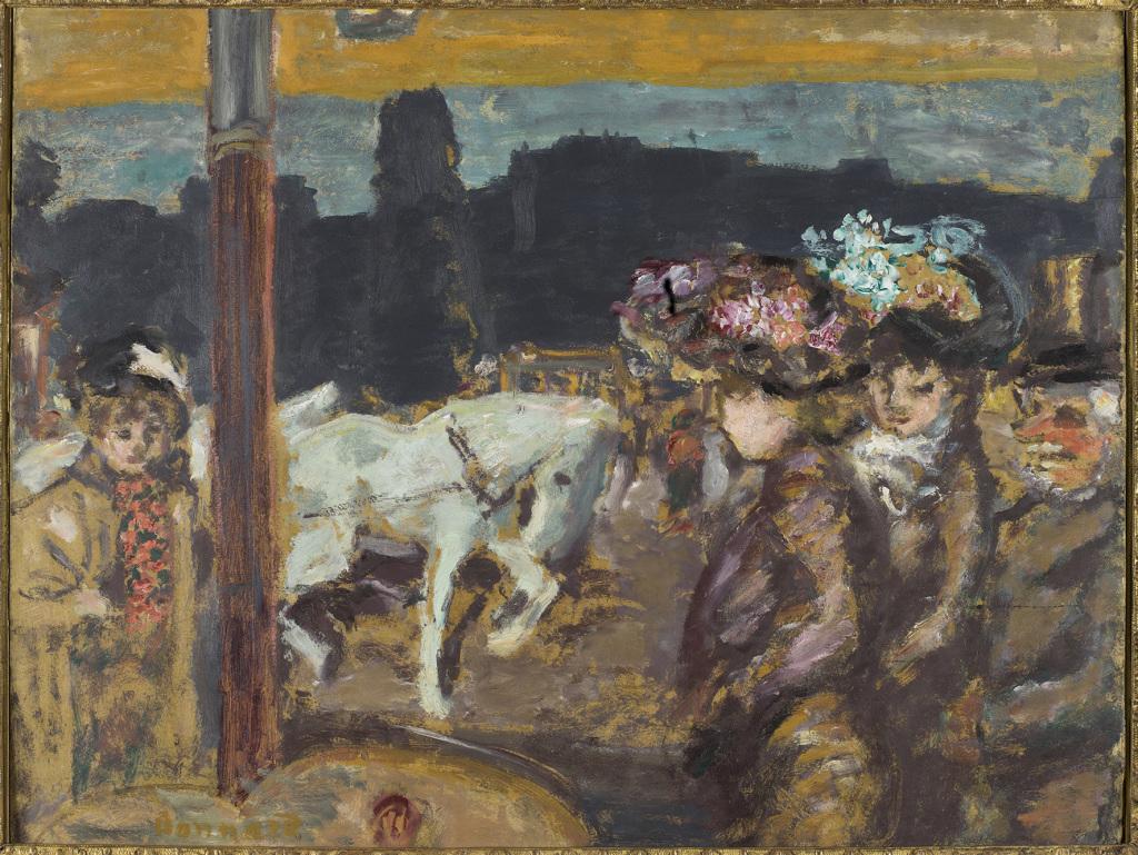 Bonnard, Chevaux et filles au bois, 1894 - Exposition Bonnard Vuillard au Musée Bonnard, Le Cannet
