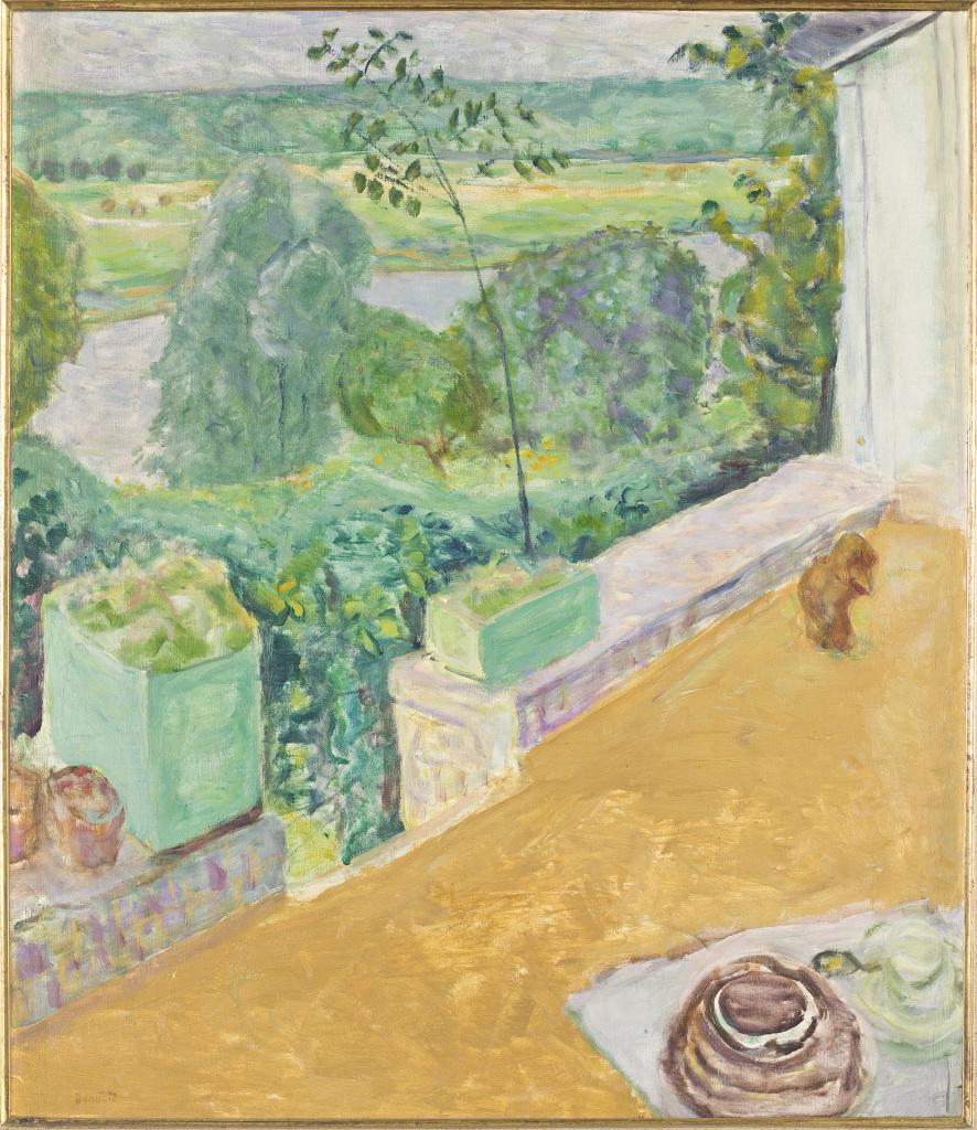 Bonnard, Chien sur la terrasse, 1917 - Exposition Bonnard Vuillard au Musée Bonnard, Le Cannet