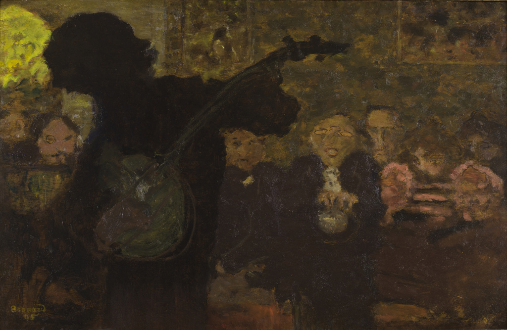 Bonnard, Joueur de banjo, 1895 - Exposition Bonnard Vuillard au Musée Bonnard, Le Cannet
