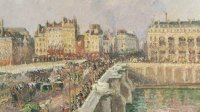 Camille Pissarro, Pont-Neuf, apres-midi, soleil, vers 1890 - Le premier des impressionnistes au Musee Marmottan Monet