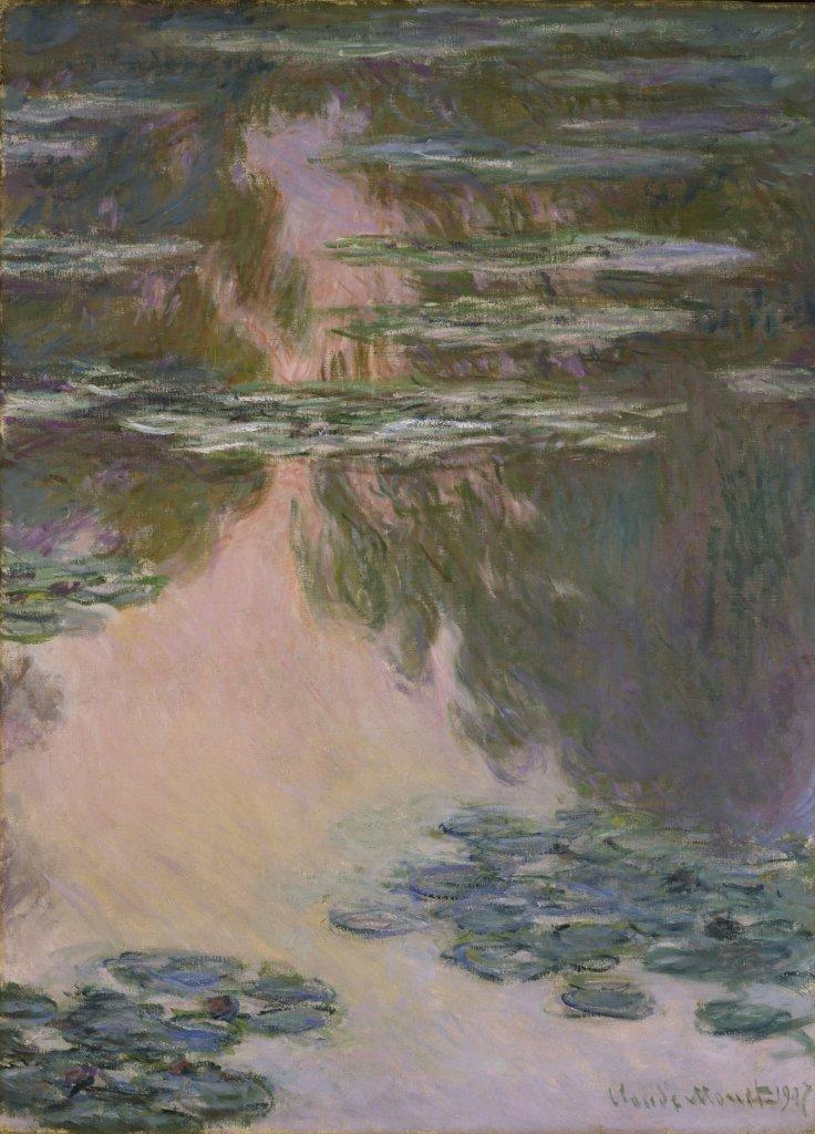 Claude Monet, Nympheas, temps gris, 1907 -Tokyo-Paris, chefs d'oeuvre du Bridgestone Museum au Musee de l'Orangerie