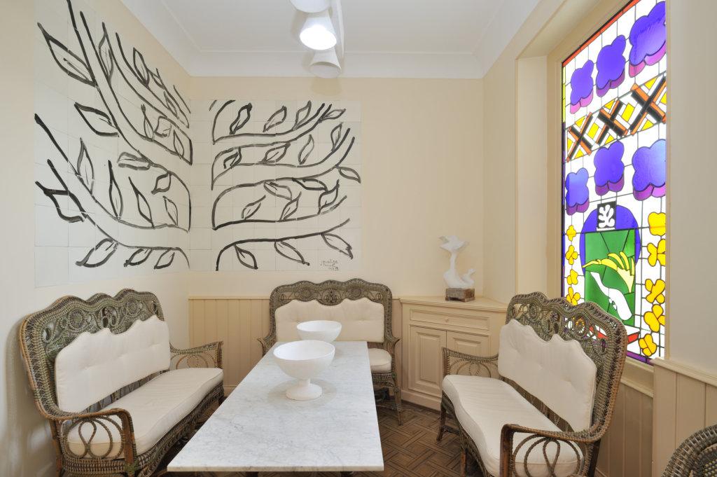 Le musee Matisse, Un musee a vivre - vue d'ensemble de la salle a manger Teriade