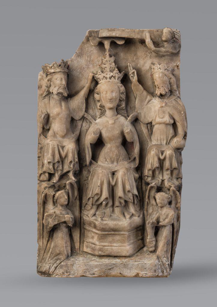 Couronnement de la Vierge XVe siecle - Etre mecene a la Renaissance, Abbaye de Graville