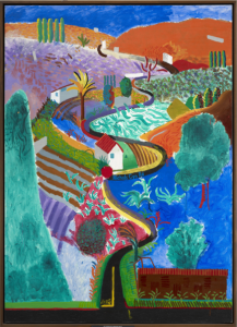 David Hockney, Nichols Canyon, 1980, centre pompidou, expo in the city