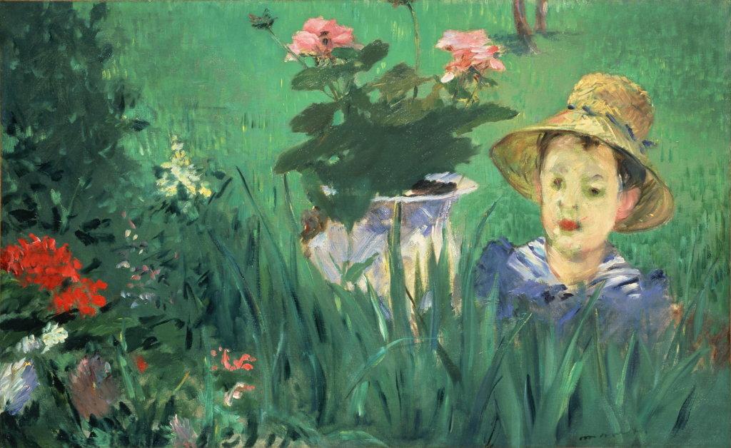Edouard Manet, Garçon dans les fleurs (Jacques Hoschedé), 1876, Monet Collectionneur, Musée Marmottan-Monet